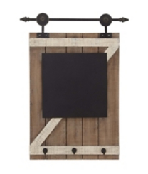 Barn Door Chalkboard Wall Organizer