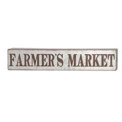 Farmer's Market Metal Plaque