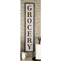 Grocery Metal Wall Plaque