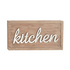 Kitchen Wood and Metal Plaque