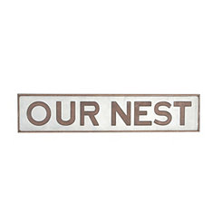Our Nest Metal Wall Plaque