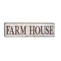 Farm House Galvanized Metal Plaque