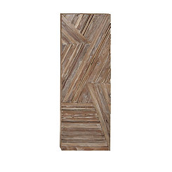 Teak Wood Panel Wall Plaque