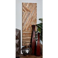 Teak Wood Panel Wall Plaque