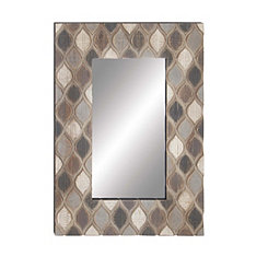 Teardrop Dimensional Wood Wall Mirror