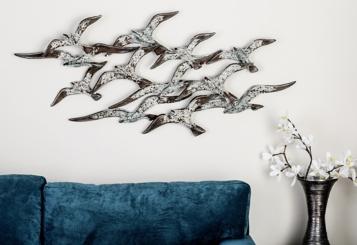 Flock of Birds Metal Wall Plaque
