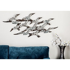 Flock of Birds Metal Wall Plaque