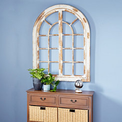 Miller White Wood Arch Rustic Wall Plaque