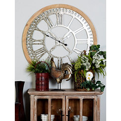 Drack Metal and Wood Cut-Out Wall Clock
