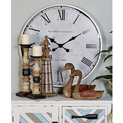 Classic Elegant Marley Metal Wall Clock