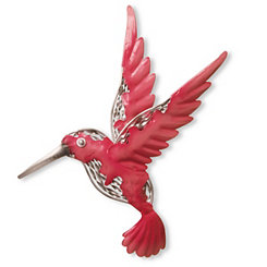 Pink Hummingbird Metal Wall Plaque