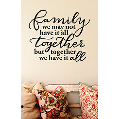 Black Cursive Family Wall Decal