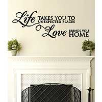 Love Brings You Home Wall Decal