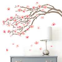 Pink Cherry Blossom Tree Wall Decal