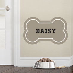 Tan Personalized Dog Bone Wall Decal