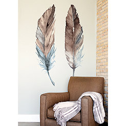 Watercolor Feathers Wall Decal