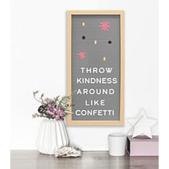 Gray Letter Board Set