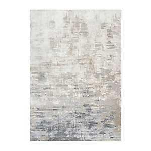 Edward Tan Abstract Area Rug, 5x7