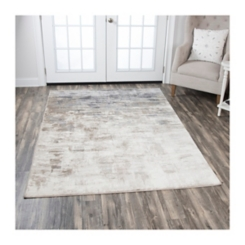 Edward Tan Abstract Area Rug, 5x7