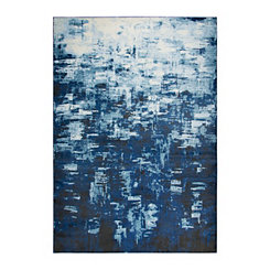 Edward Blue Abstract Area Rug, 5x7