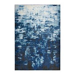 Edward Blue Abstract Area Rug, 5x7