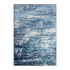Edward Blue Abstract Scales Area Rug, 5x7