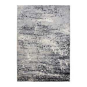 Edward Brown Gray Abstract Scales Area Rug, 5x7