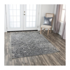 Edward Gray Distressed Area Rug, 5x7