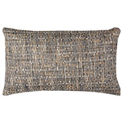 Blue Threaded Accent Pillow