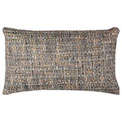 Blue Threaded Accent Pillow
