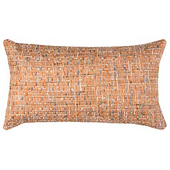 Orange Threaded Accent Pillow
