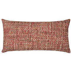 Red Threaded Accent Pillow