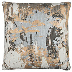 Abstract Metallic Foil Pillow