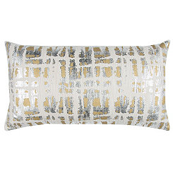 Abstract Metallic Foil Accent Pillow