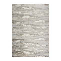Edward Beige Abstract Area Rug, 5x7