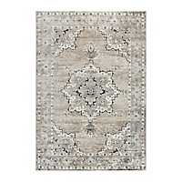Edward Beige and Brown Medallion Area Rug, 5x7