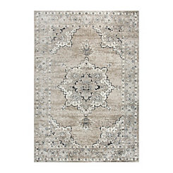 Edward Beige and Brown Medallion Area Rug, 8x10