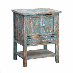 Weathered Blue 2-Door Cabinet