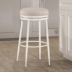 Darby Off-White Swivel Counter Stool