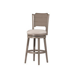 Distressed Gray Geneva Swivel Barstool