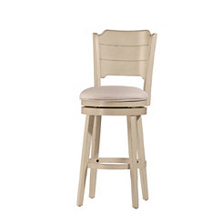 Geneva Distressed White Swivel Counter Stool