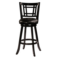 Bristol Black Swivel Counter Stool