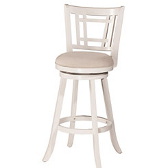 Bristol White Swivel Counter Stool