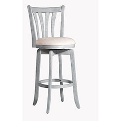 Sedona Blue Wirebrushed Swivel Bar Stool