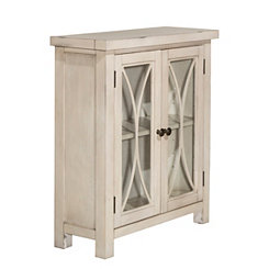 Berlin Antique White 2-Door Cabinet