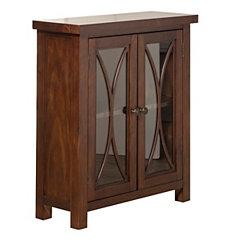 Berlin Rustic Mahogany 2-Door Cabinet