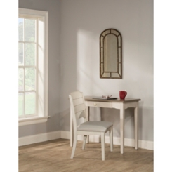 Juno Distressed Gray Top Desk and Chair, Set of 2
