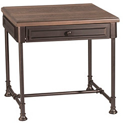 Sierra Distressed Wood and Metal Accent Table