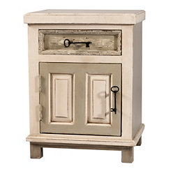 Albany Rustic White and Gray Accent Table
