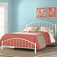 Phoenix White Metal King Bed